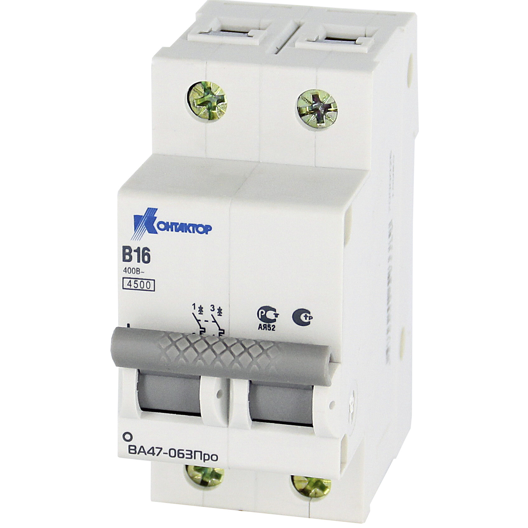 Выключатель автоматический модульный 2п B 20А 4.5кА ВА47-063Про Контактор 7000027 купить в интернет-магазине RS24
