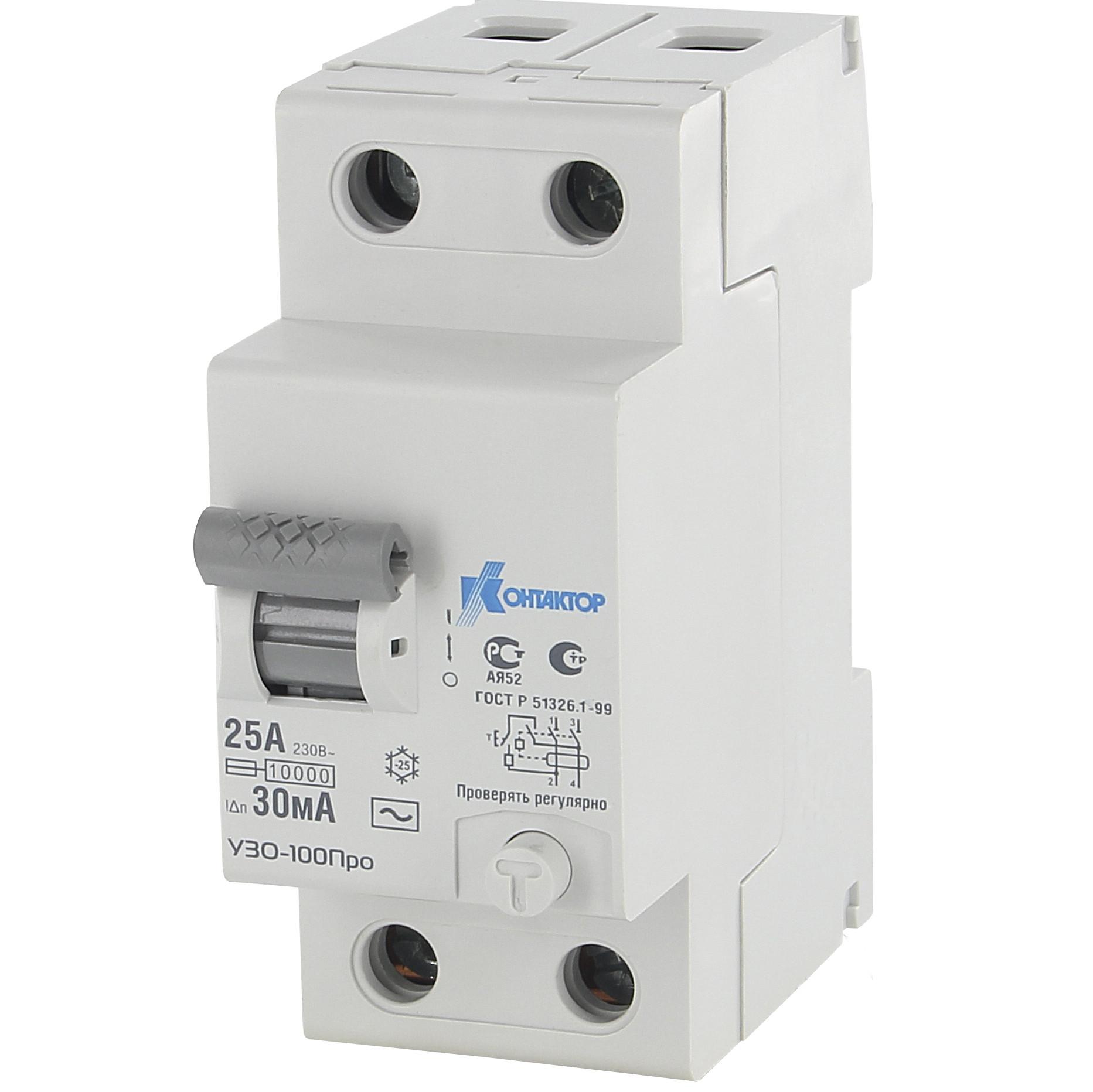 Устройство защитного откл. УЗО-100Про 2п 40А 100мА тип AC Контактор 7000523 купить в интернет-магазине RS24